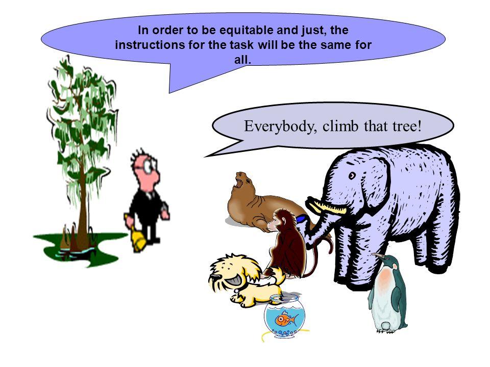 Everybody, climb that tree!