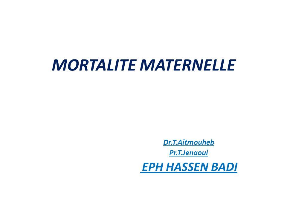 Dr.T.Aitmouheb Pr.T.Jenaoui EPH HASSEN BADI