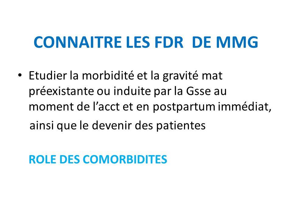 CONNAITRE LES FDR DE MMG