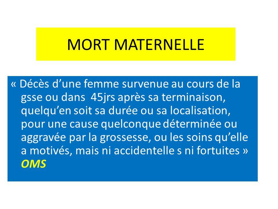 MORT MATERNELLE