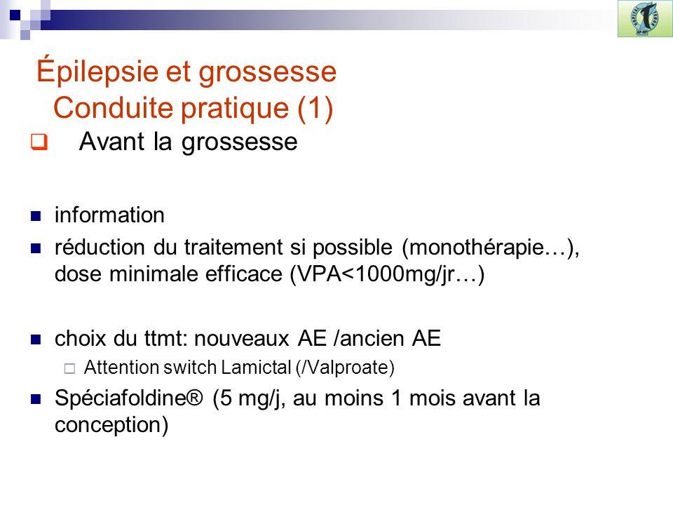 Épilepsie et grossesse Conduite pratique (1)