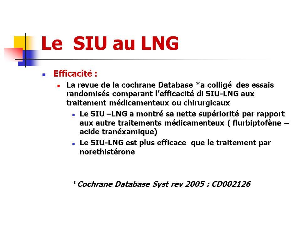 Le SIU au LNG Efficacité :