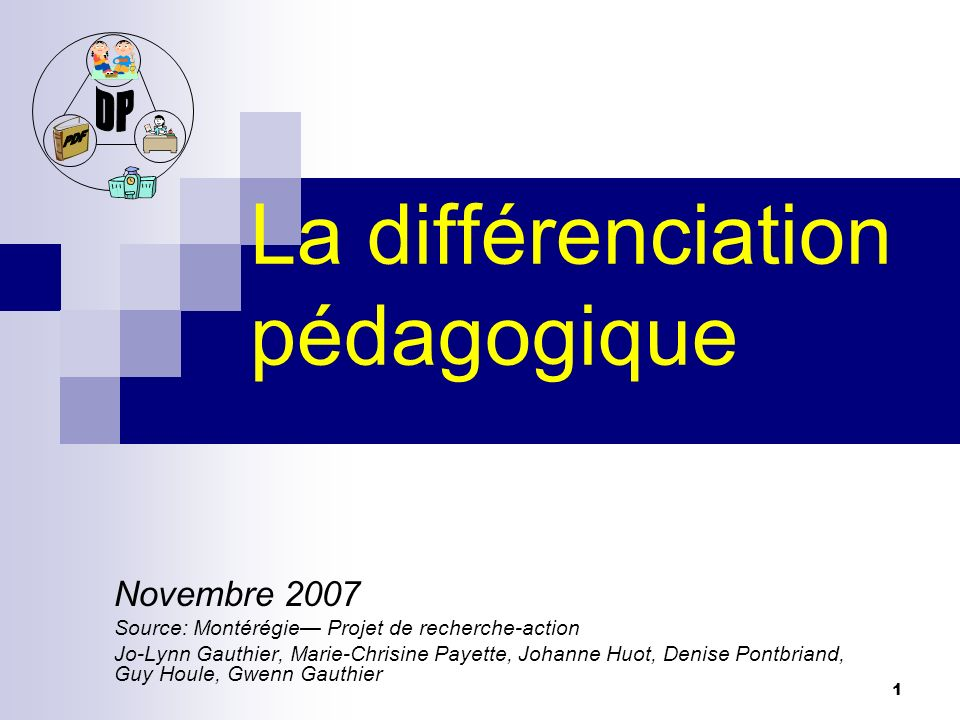 La différenciation pédagogique