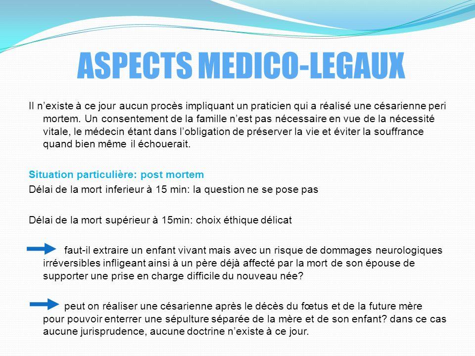 ASPECTS MEDICO-LEGAUX