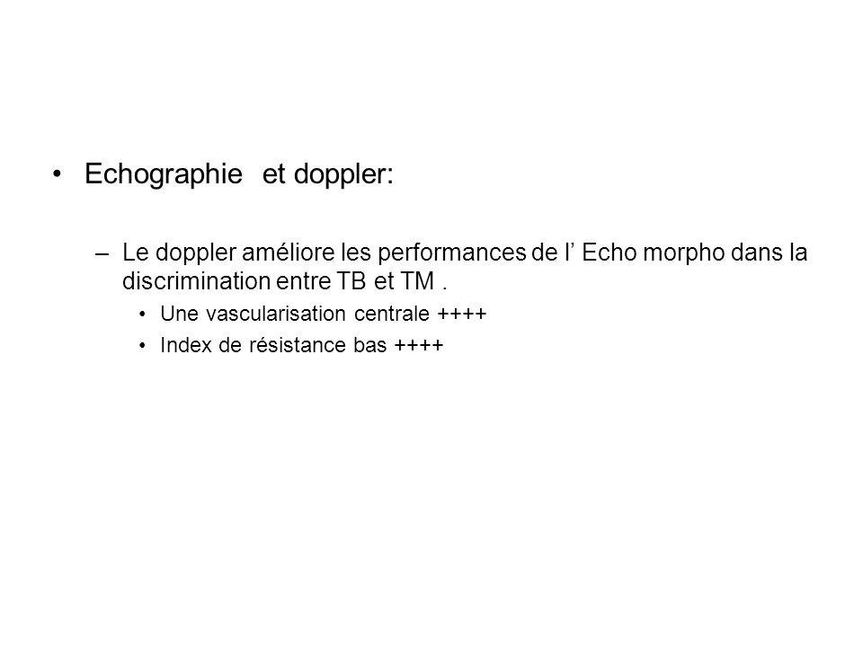 Echographie et doppler: