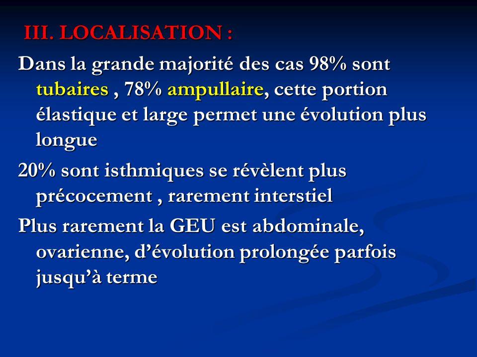 III. LOCALISATION :
