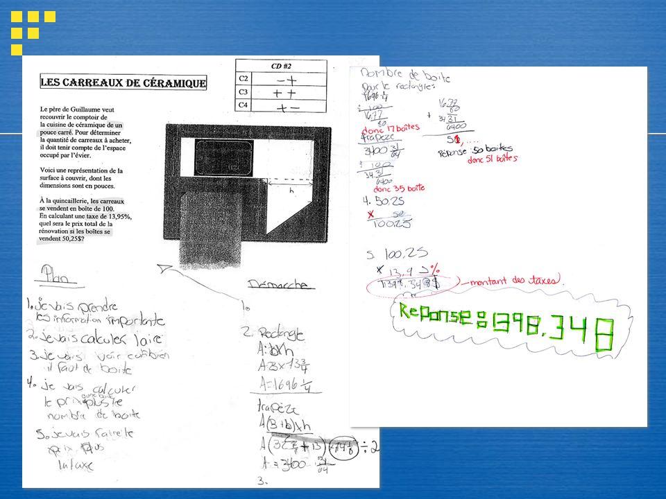 Carreaux de céramique 2 pages - étapes de plan de travail et démarche de travail.