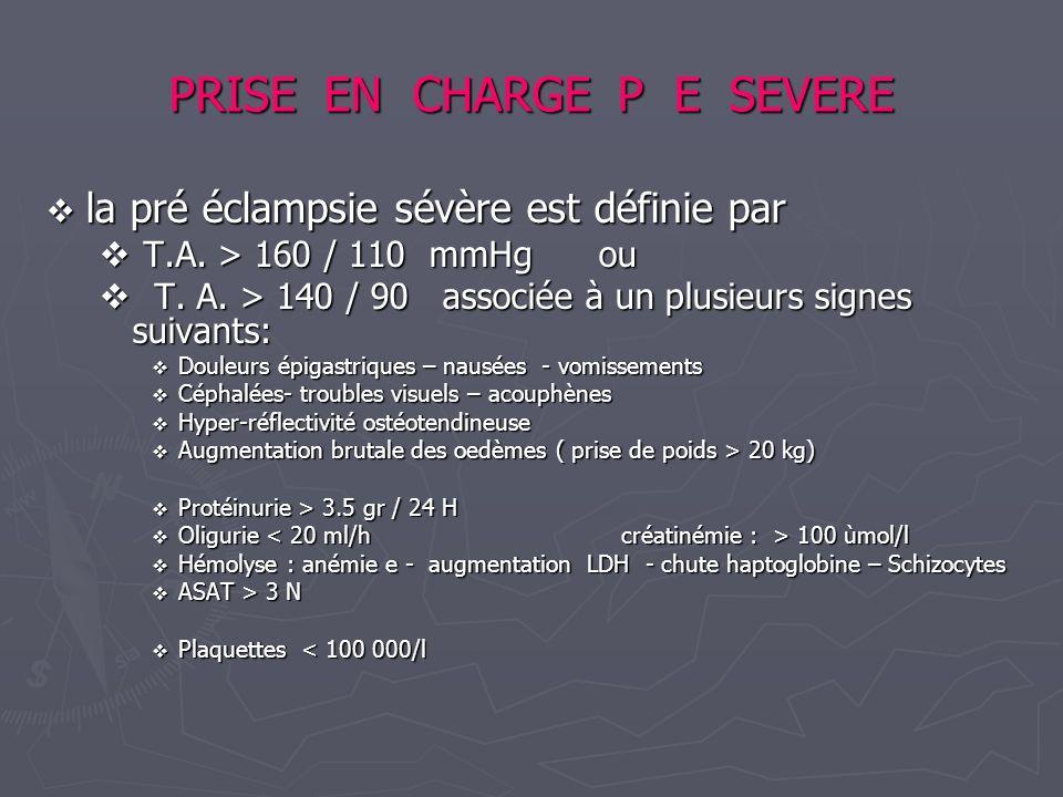 PRISE EN CHARGE P E SEVERE