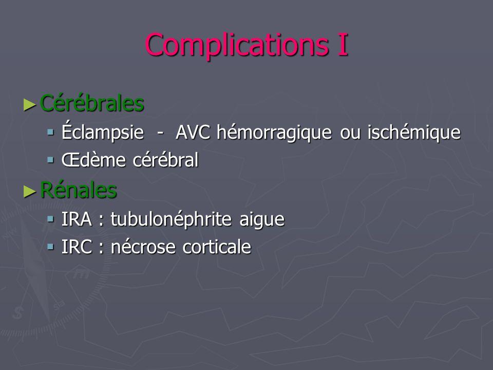 Complications I Cérébrales Rénales