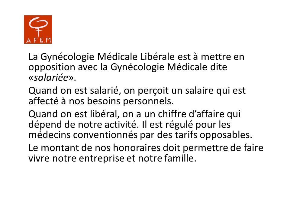 La Gynécologie Médicale Libérale est à mettre en opposition avec la Gynécologie Médicale dite «salariée».