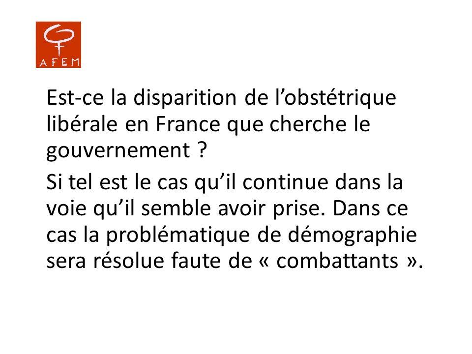 Est-ce la disparition de l'obstétrique libérale en France que cherche le gouvernement