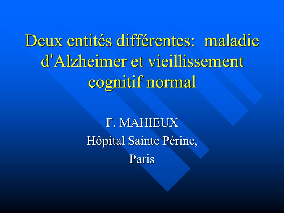 F. MAHIEUX Hôpital Sainte Périne, Paris