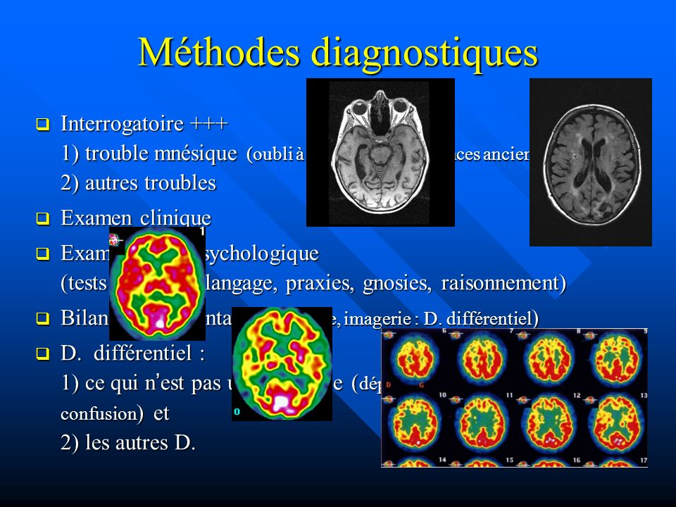 Méthodes diagnostiques