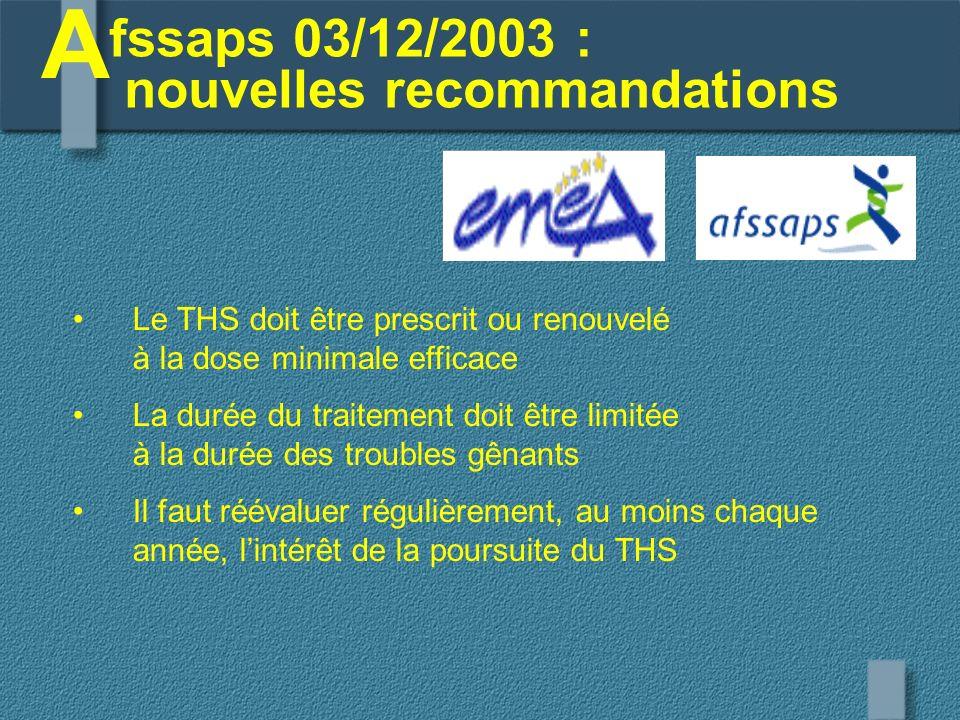 fssaps 03/12/2003 : nouvelles recommandations