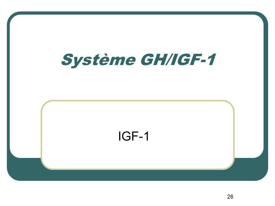 Système GH/IGF-1 IGF-1