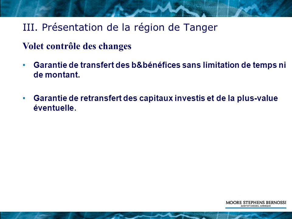 III. Présentation de la région de Tanger