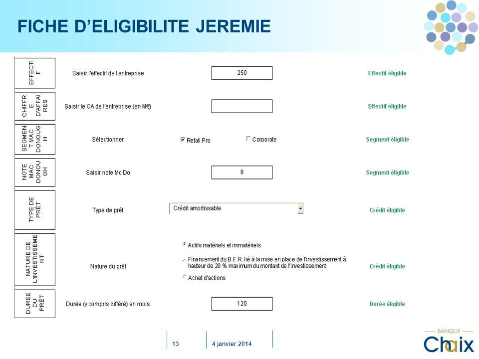FICHE D'ELIGIBILITE JEREMIE