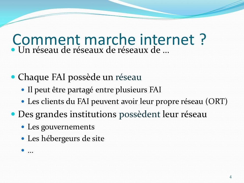 Comment marche internet
