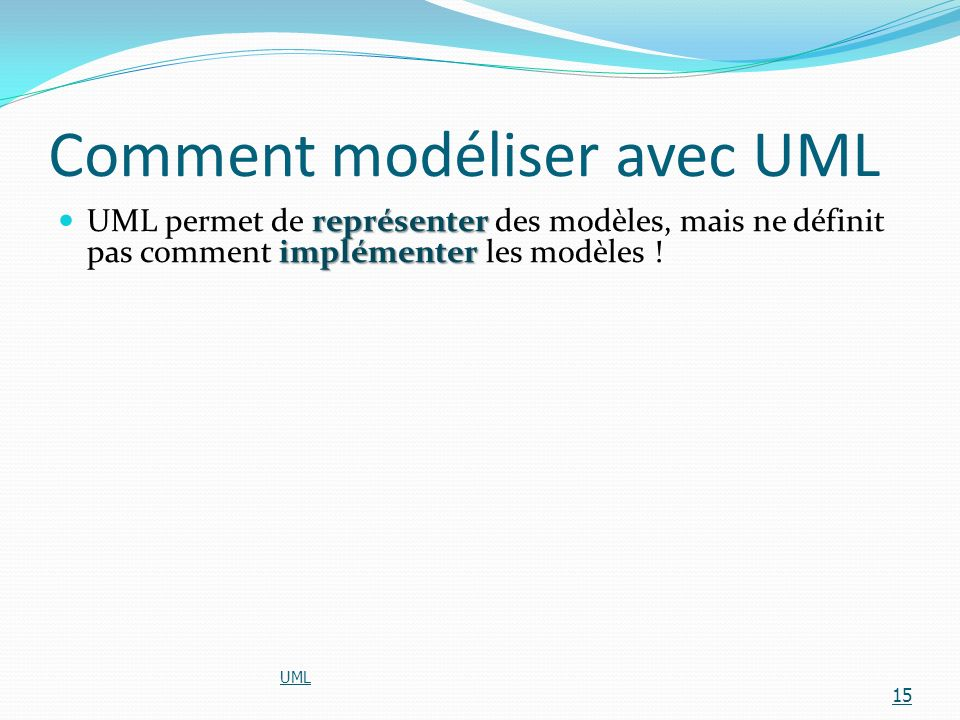 Comment modéliser avec UML