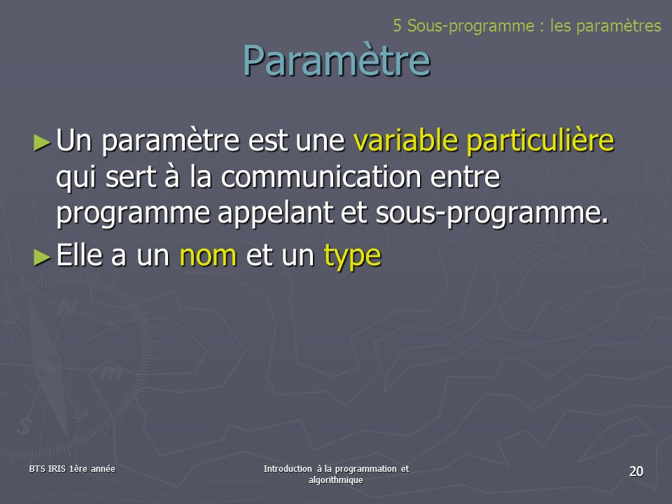 Introduction à la programmation et algorithmique