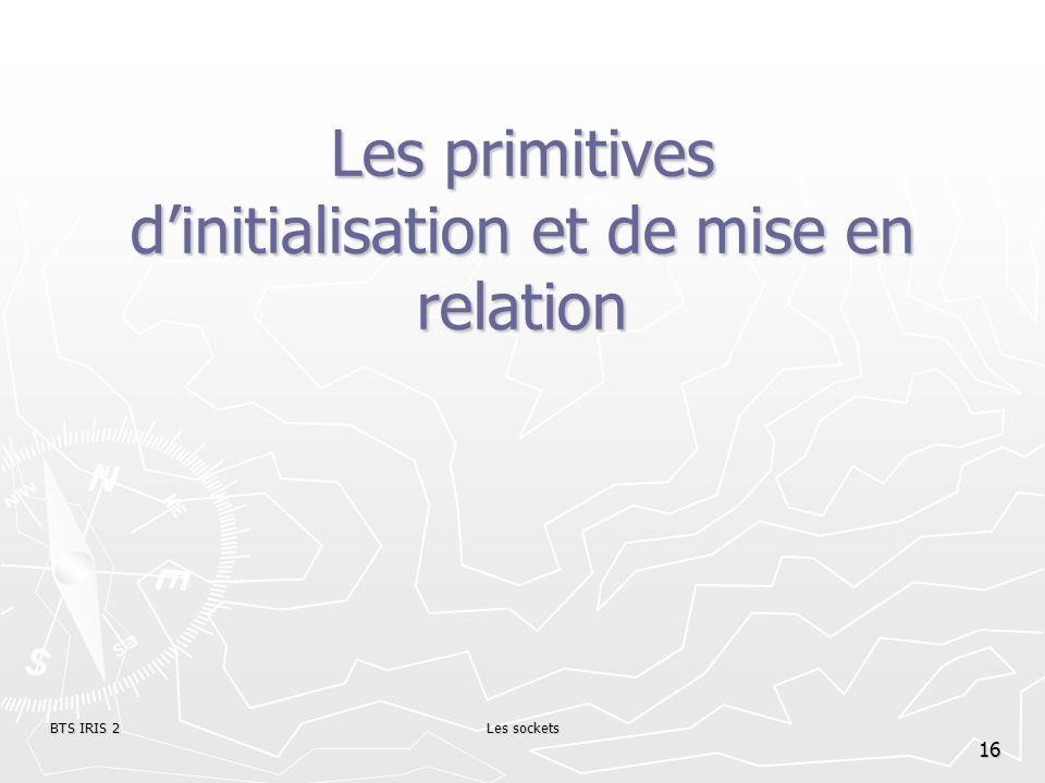 Les primitives d'initialisation et de mise en relation