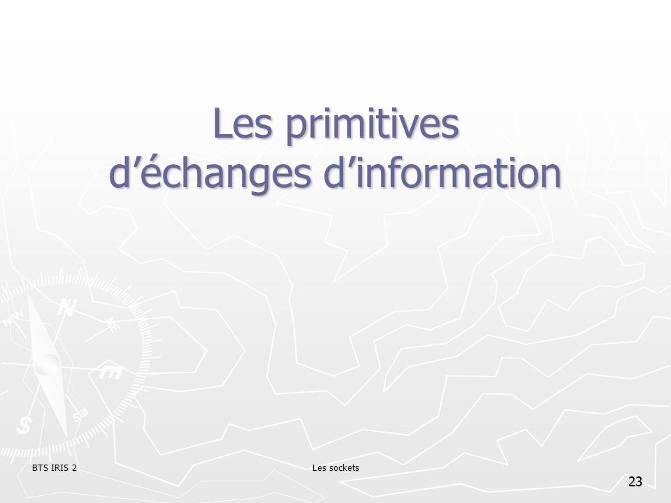 Les primitives d'échanges d'information