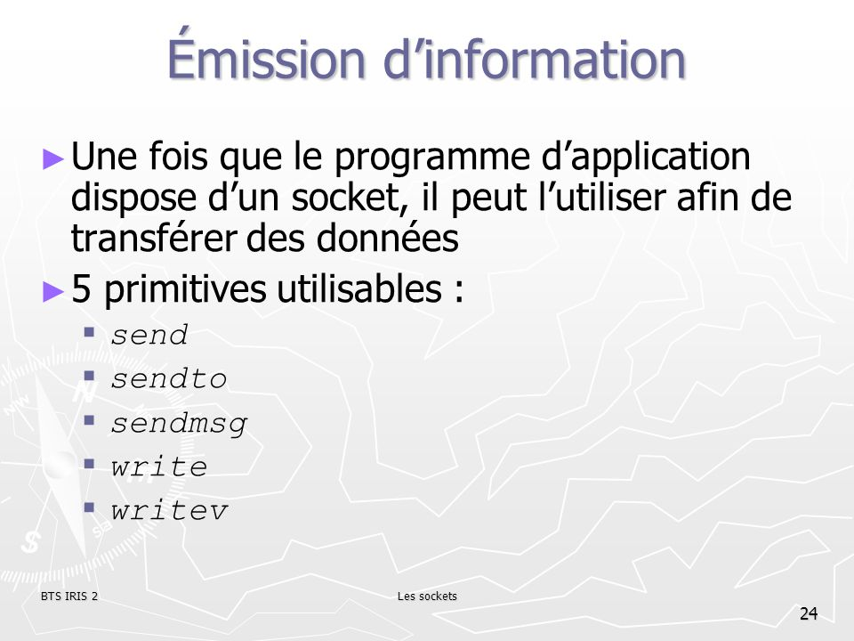 Émission d'information