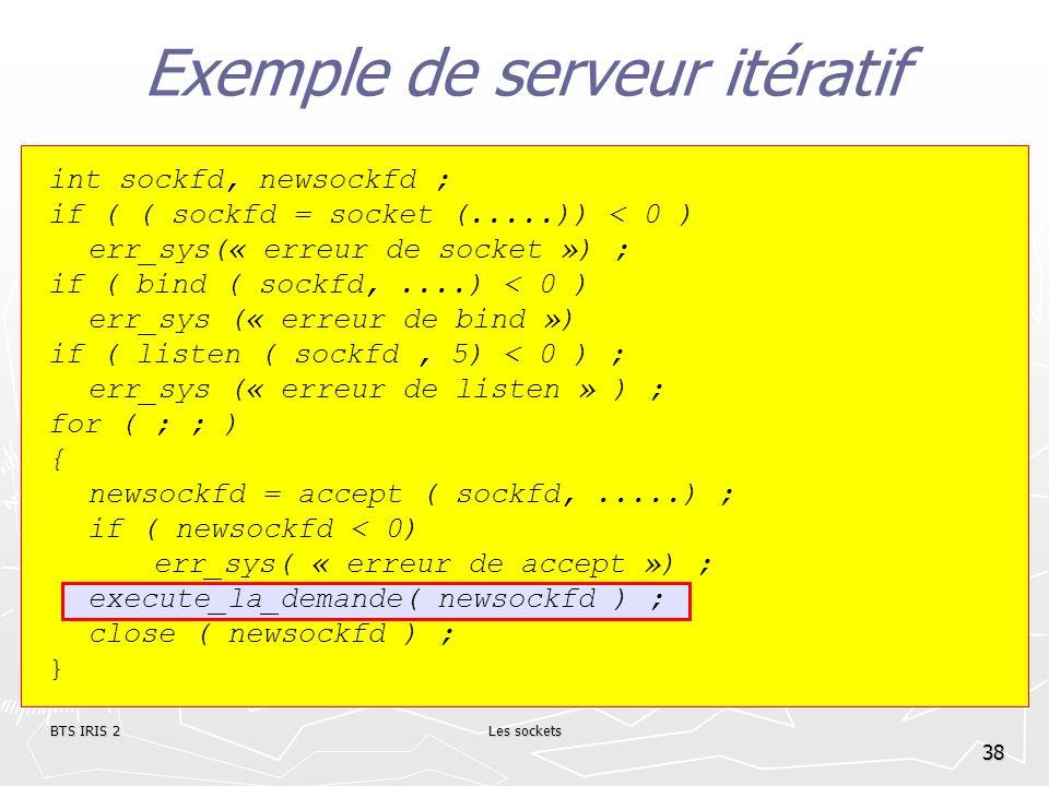 Exemple de serveur itératif