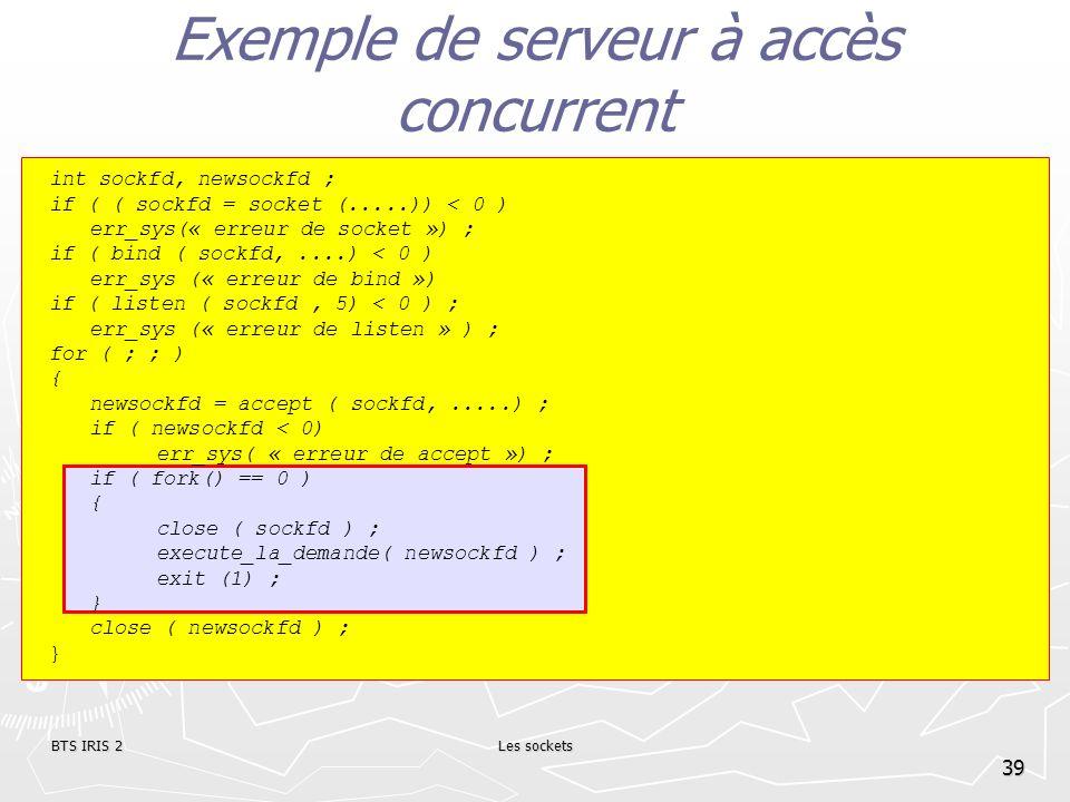 Exemple de serveur à accès concurrent