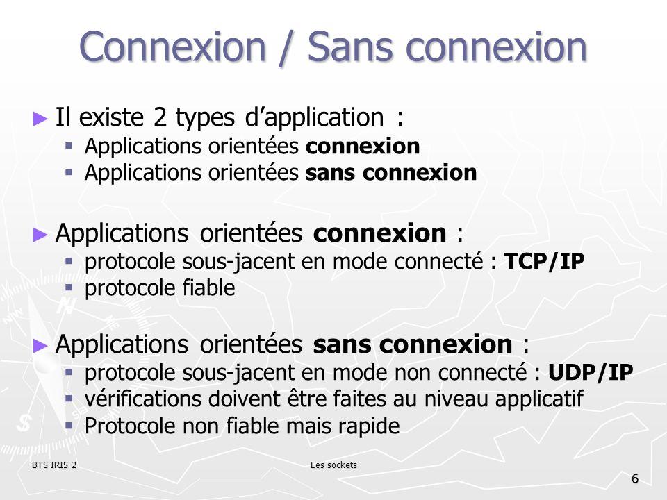 Connexion / Sans connexion