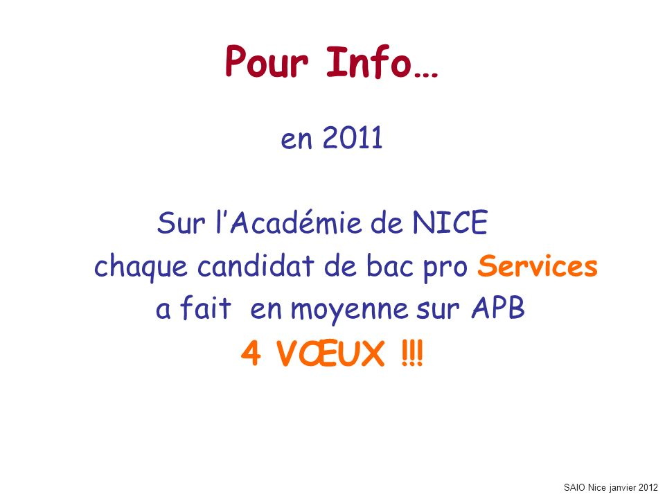 Pour Info… 4 VŒUX !!! en 2011 Sur l'Académie de NICE