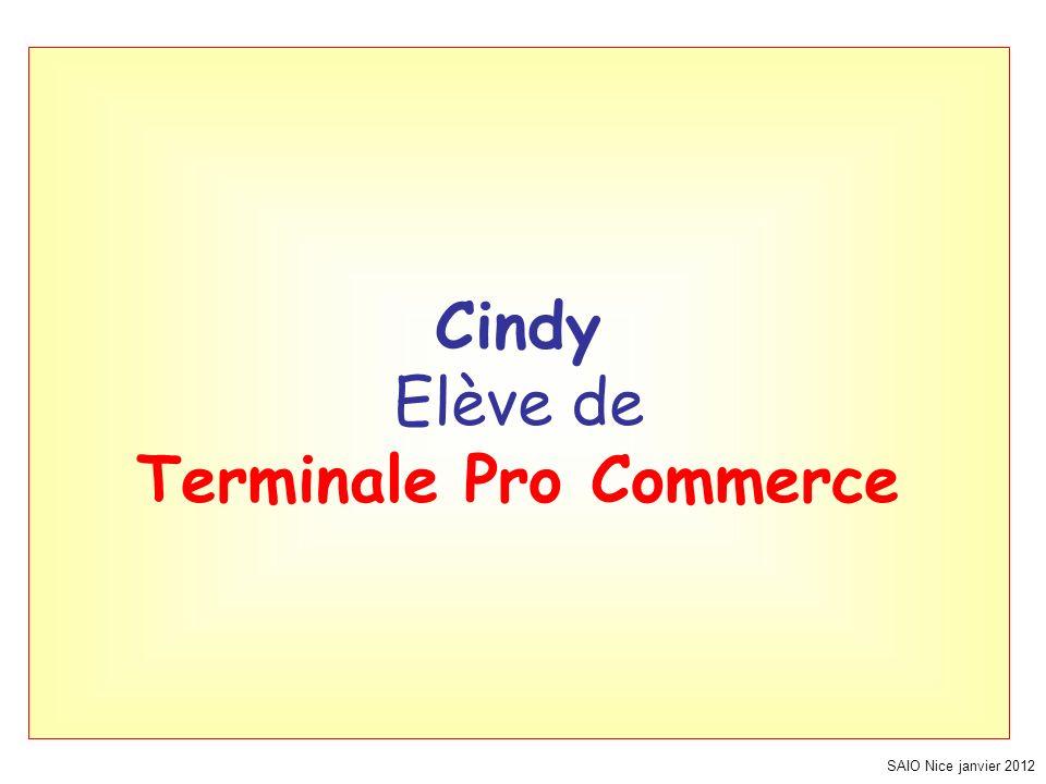 Cindy Elève de Terminale Pro Commerce