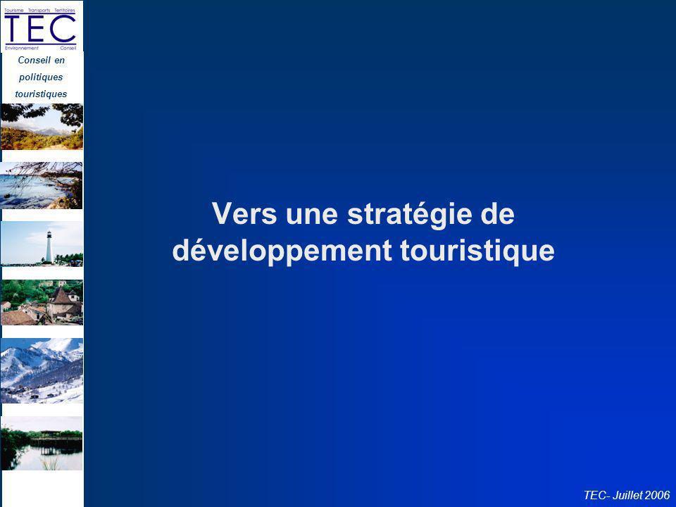 Vers une stratégie de développement touristique