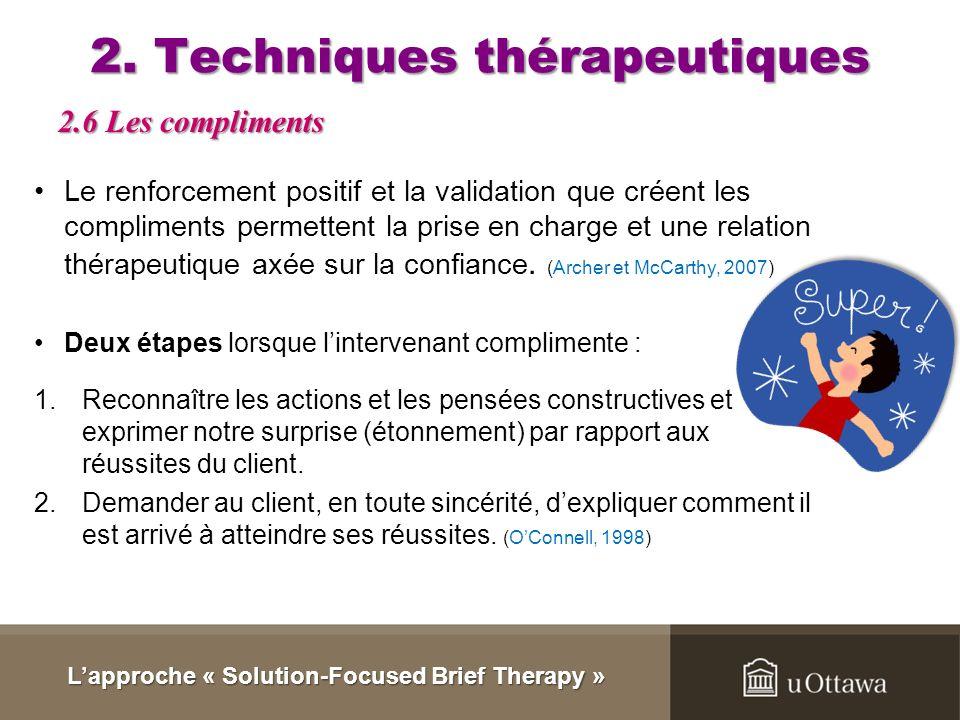 2. Techniques thérapeutiques