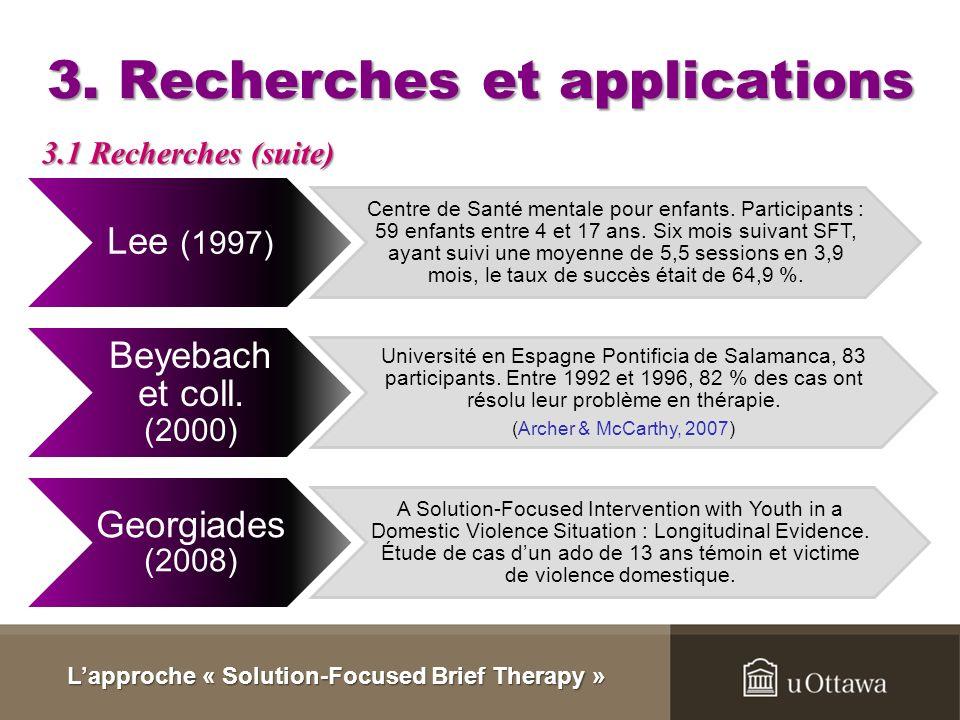 3. Recherches et applications
