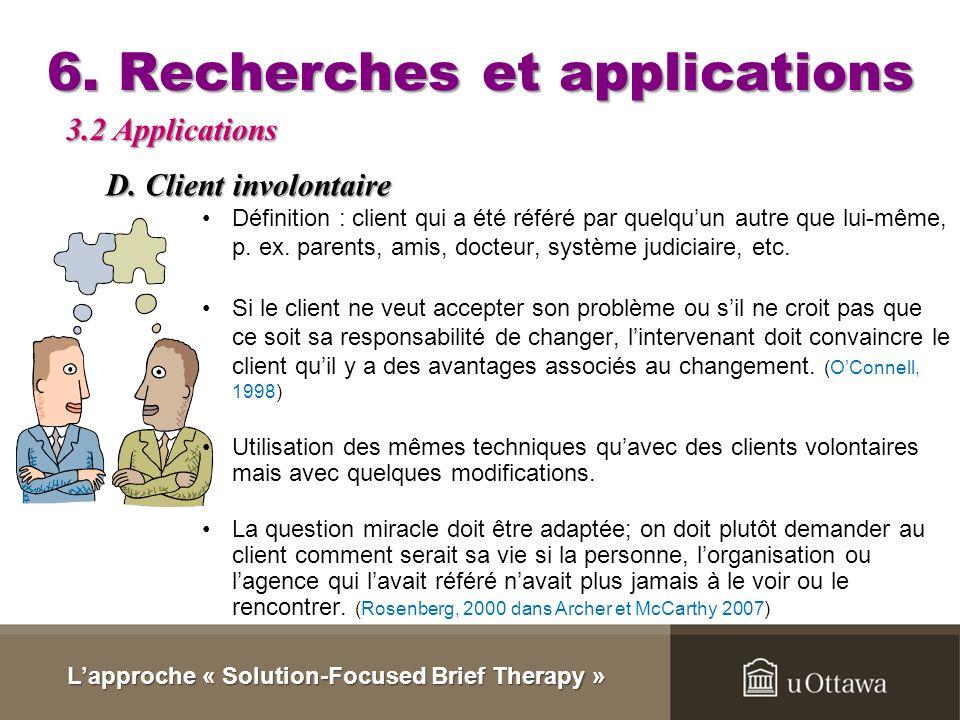 6. Recherches et applications