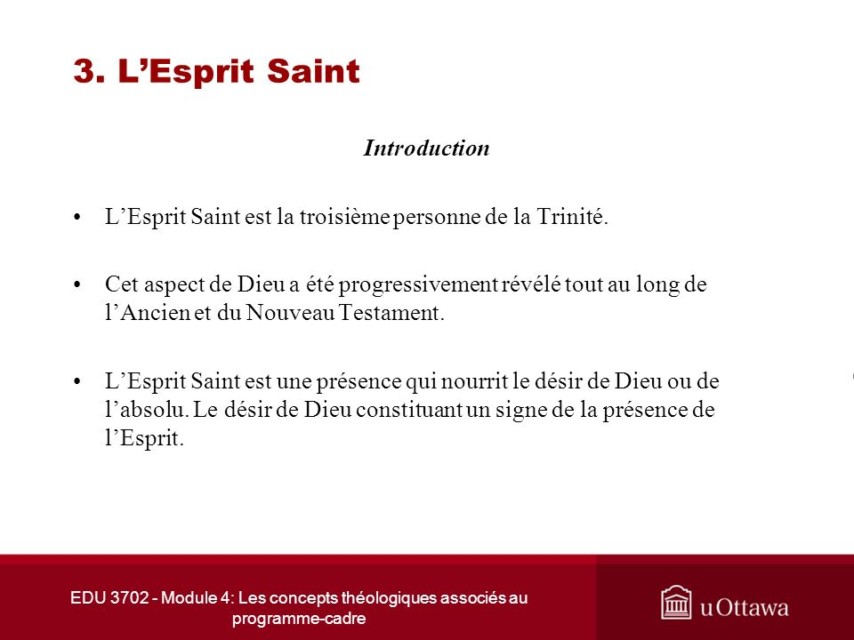 3. L'Esprit Saint Introduction