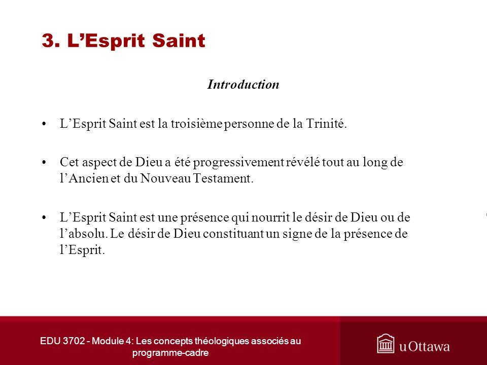 3. L'Esprit Saint Introduction