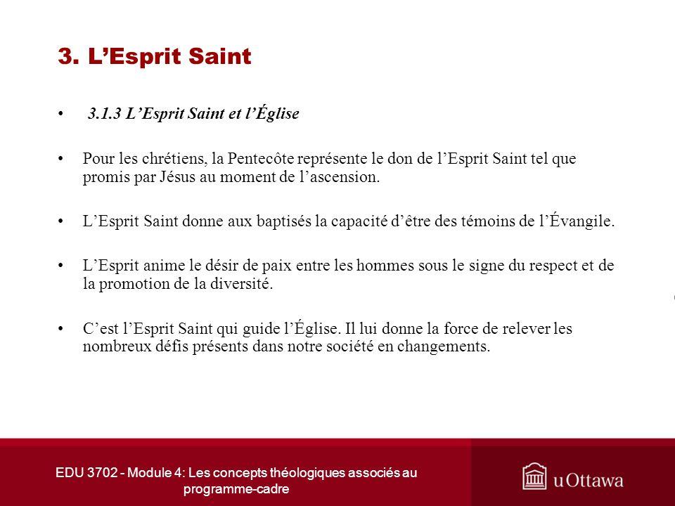 3. L'Esprit Saint 3.1.3 L'Esprit Saint et l'Église