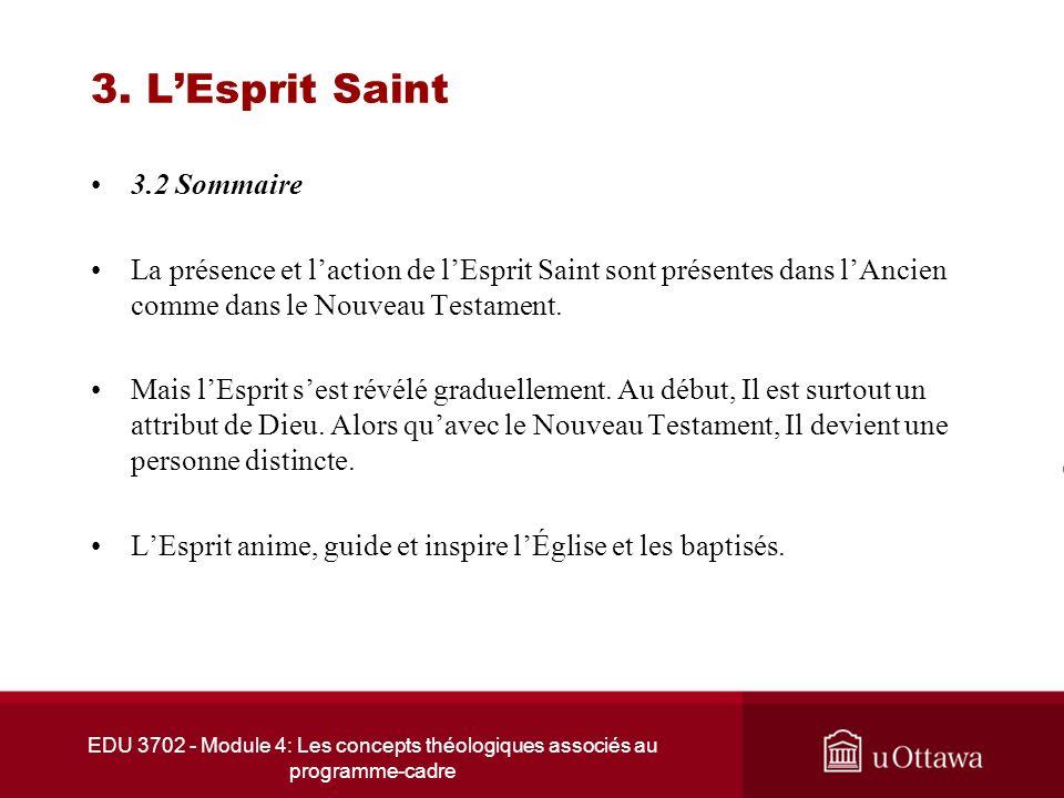 3. L'Esprit Saint 3.2 Sommaire