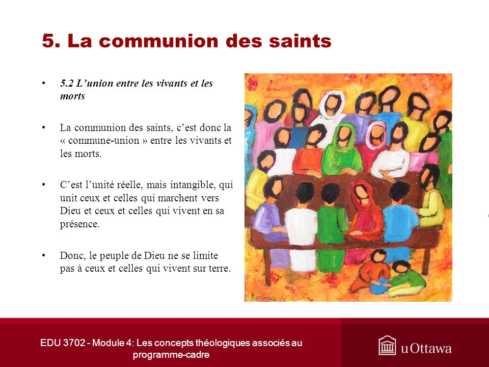 5. La communion des saints