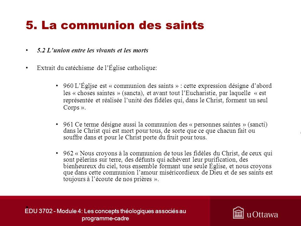 5. La communion des saints