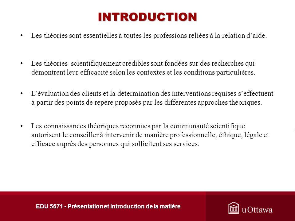 EDU 5671 - Présentation et introduction de la matière