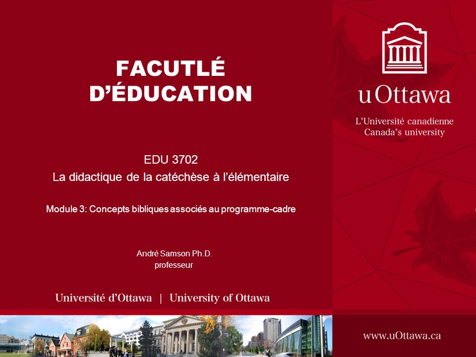 FACUTLÉ D'ÉDUCATION EDU 3702