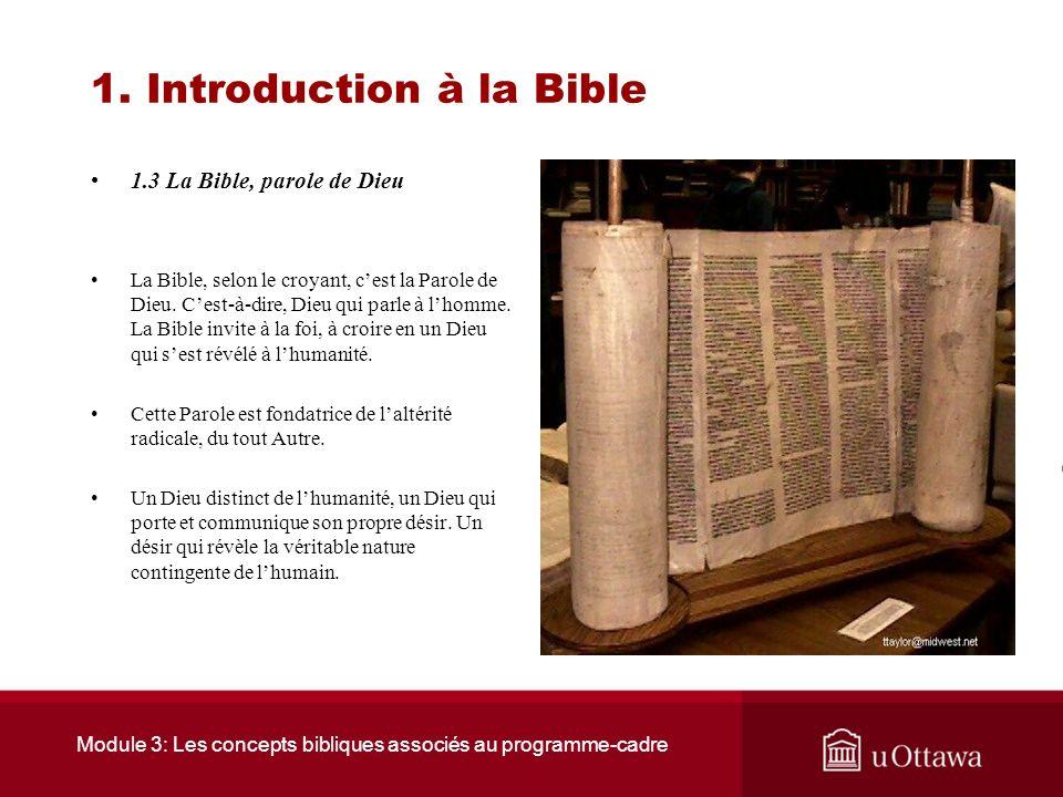 1. Introduction à la Bible