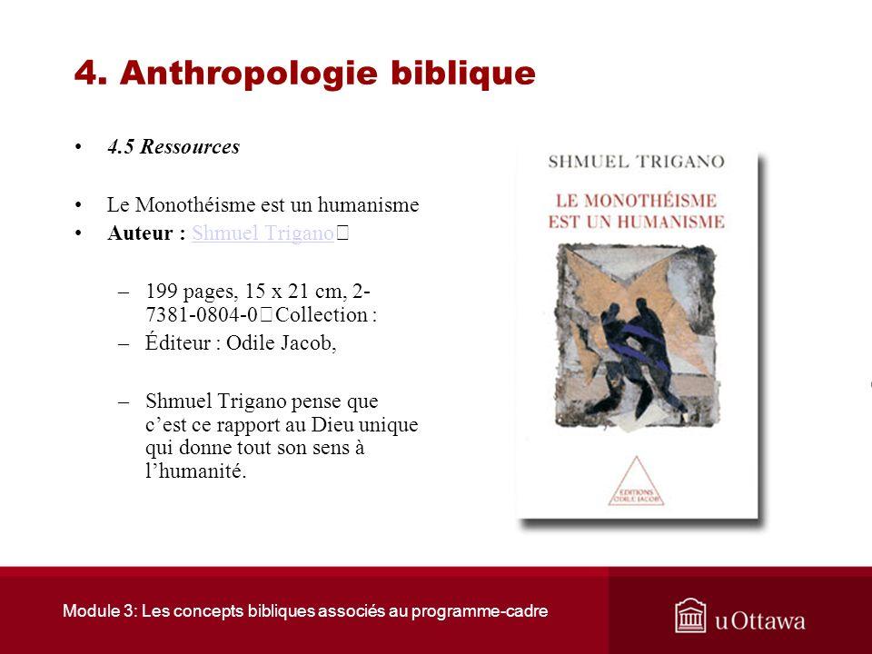 4. Anthropologie biblique