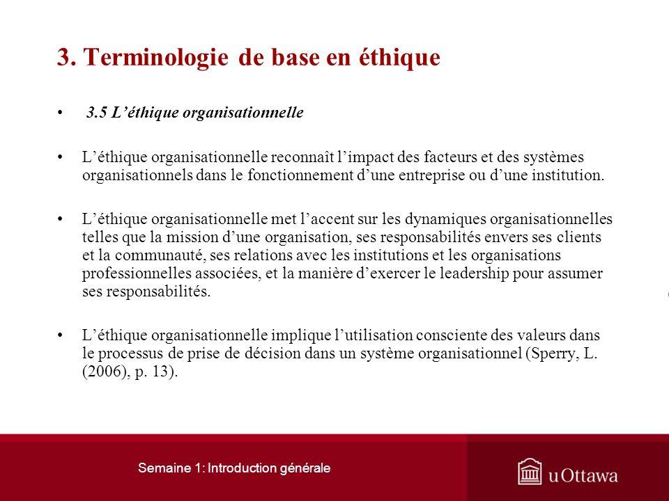 3. Terminologie de base en éthique