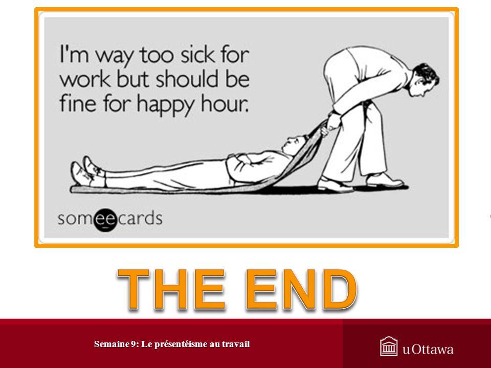 Semaine 9: Le présentéisme au travail