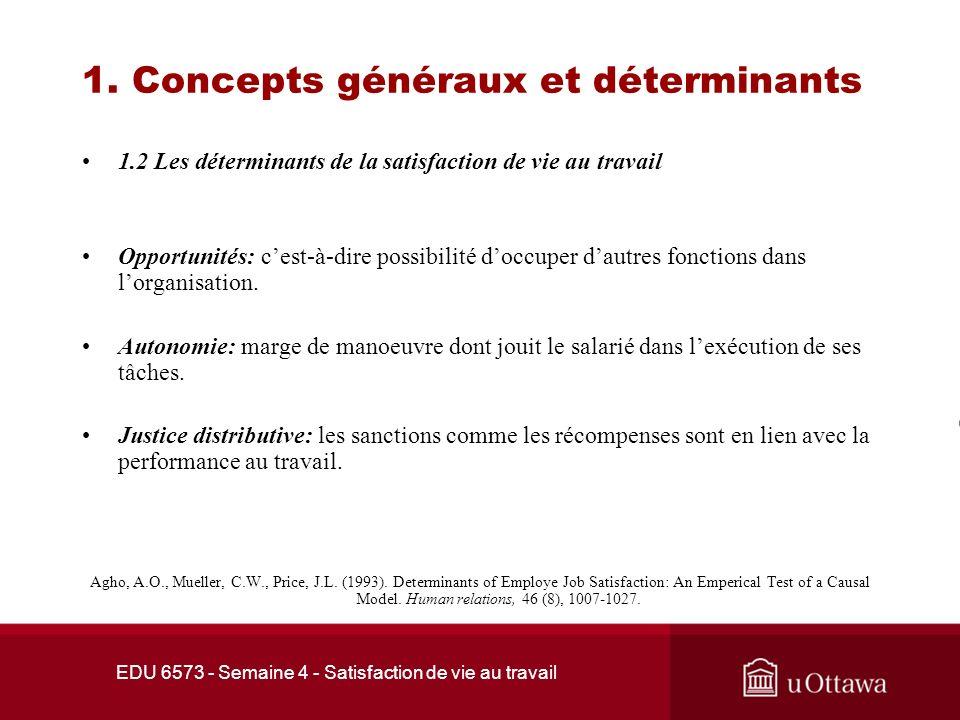 1. Concepts généraux et déterminants