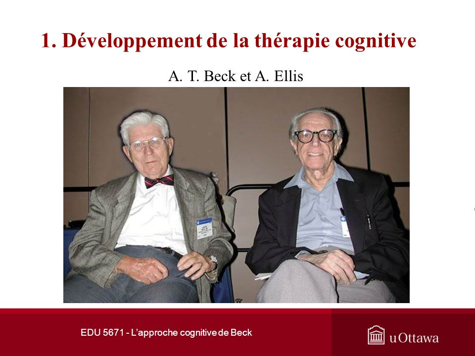 1. Développement de la thérapie cognitive